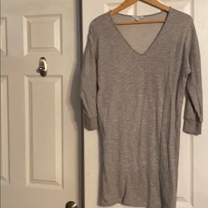 James Perse size 2 (M) gray sweatshirt dress